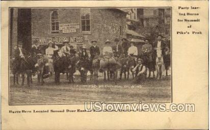 Burro Barn   - Manitou, Colorado CO Postcard