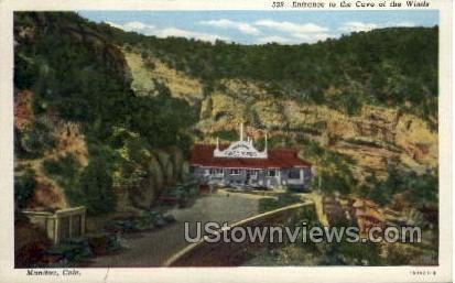 Entrance to The Cave of The Winds - Manitou, Colorado CO Postcard