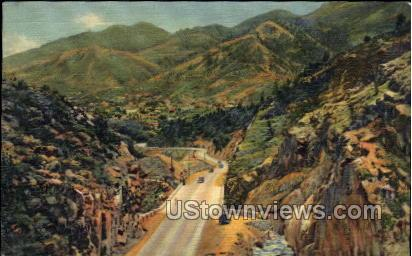 Hills - Manitou, Colorado CO Postcard