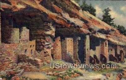 Cliff Dwellings - Manitou, Colorado CO Postcard