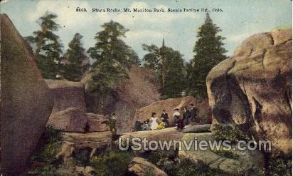 Stage Rocks  - Manitou, Colorado CO Postcard