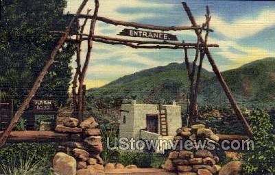 Plaza Entrance to The Cliff Dwellings - Manitou, Colorado CO Postcard