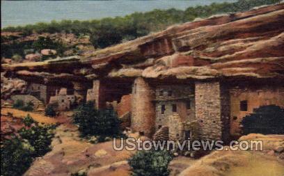 General View of Cliff Dwellings - Manitou, Colorado CO Postcard