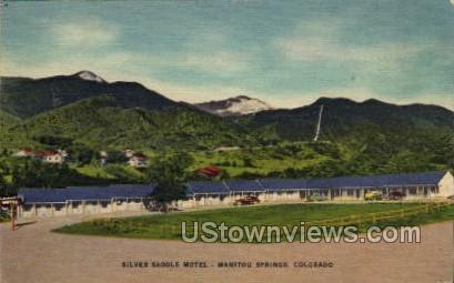 Silver Saddle Motel - Manitou, Colorado CO Postcard