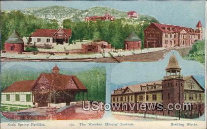 Mineral Springs - Manitou, Colorado CO Postcard
