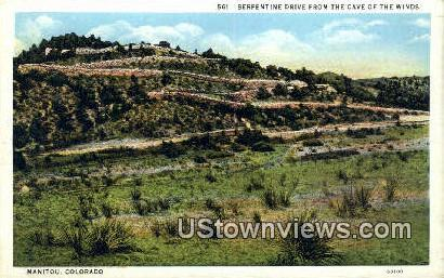 Cave of the Winds - Manitou, Colorado CO Postcard