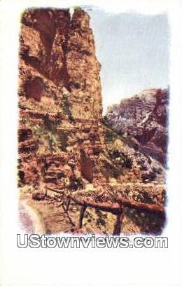 Temple Drive, William Canon - Manitou, Colorado CO Postcard