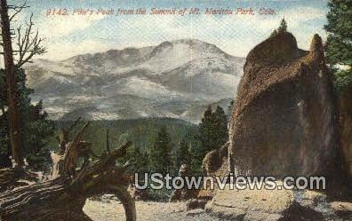 Pike's Peak - Manitou, Colorado CO Postcard