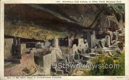 Marvelous Cliff Palace - Mesa Verde Park, Colorado CO Postcard