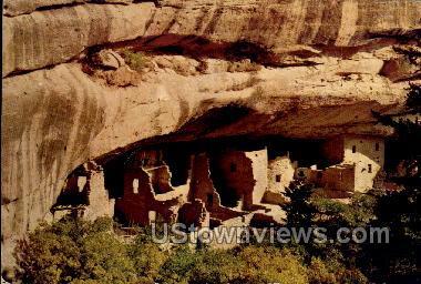 Spruce Tree Ruin  - Mesa Verde Park, Colorado CO Postcard