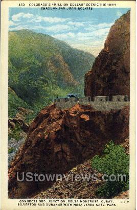 Million Dollar Scenic Highway - Mesa Verde Park, Colorado CO Postcard