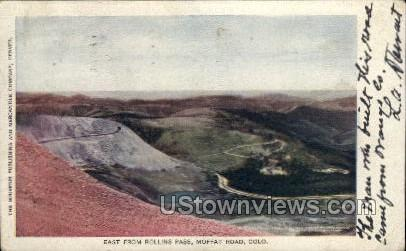 East from Rollins Pass - Moffat Road, Colorado CO Postcard