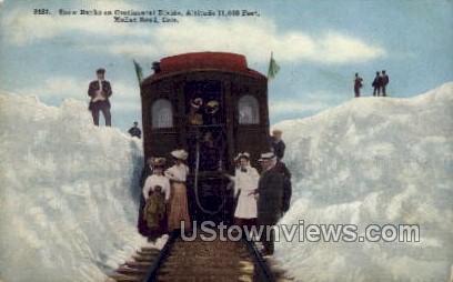 Snow Banks On Continental Divide  - Moffat Road, Colorado CO Postcard