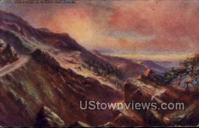 Great Palisade on the Moffat Road - Colorado CO Postcard