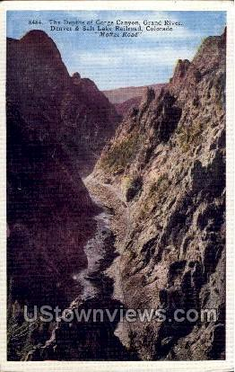 The Depths of Gorge Canyon Grand River  - Moffat Road, Colorado CO Postcard