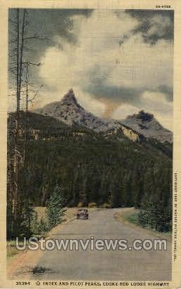Index and Pilot Peaks, Cooke-Red Lodge Highway - Misc, Colorado CO Postcard