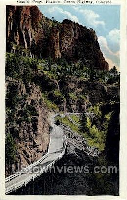 Granite crags, Phantom Canon Highway - Misc, Colorado CO Postcard
