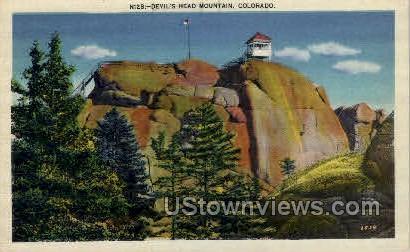 Devil's Head Mountain - Misc, Colorado CO Postcard