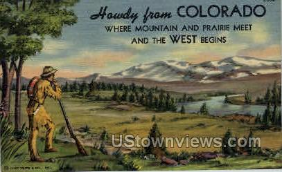 Howdy from Colorado - Misc Postcard