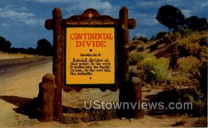 Continental Divide - Misc, Colorado CO Postcard