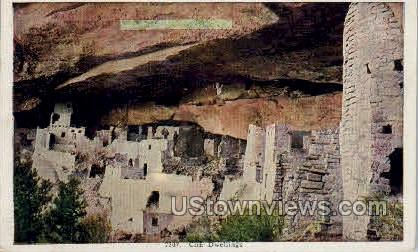 Cliff Dwellings - Misc, Colorado CO Postcard