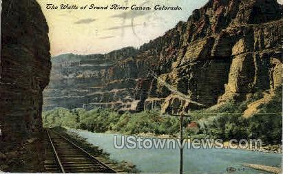 The Walls of Grand River Canon - Misc, Colorado CO Postcard