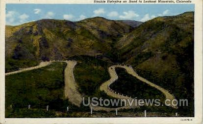 Double Hairpins on Road to Lookout Mountain - Misc, Colorado CO Postcard