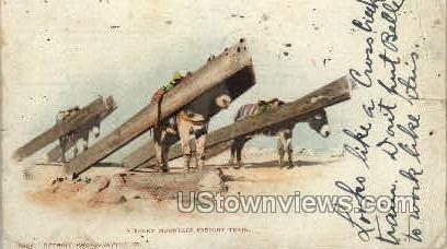 A Rocky Mountain Freight Train - Misc, Colorado CO Postcard