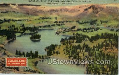 Island Lake Basin, White River National Forest - Misc, Colorado CO Postcard