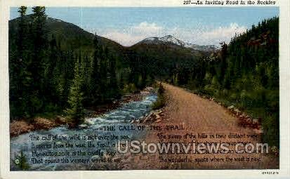 The Call of the Trail Poem - Misc, Colorado CO Postcard
