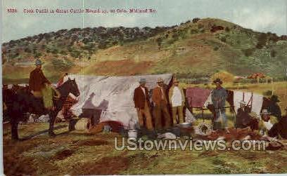 Cook Outfit in Great cattle Round Up - Misc, Colorado CO Postcard