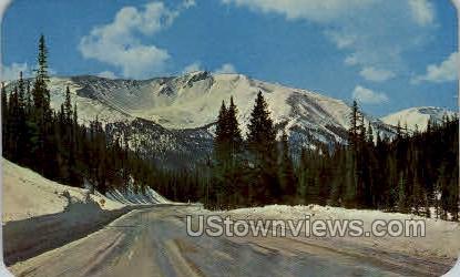 Spring Vista of Crater Mountain on Bertoud Pass - Misc, Colorado CO Postcard