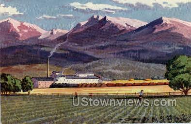 Colorado's Mountains and Farms - Misc Postcard