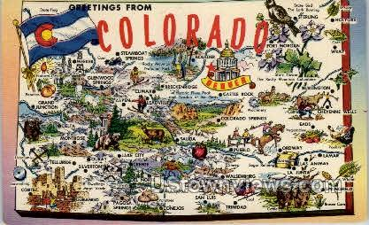 Greetings From Colorado - Misc Postcard