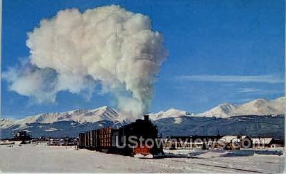 Highest Steam Run in The U.S - Misc, Colorado CO Postcard