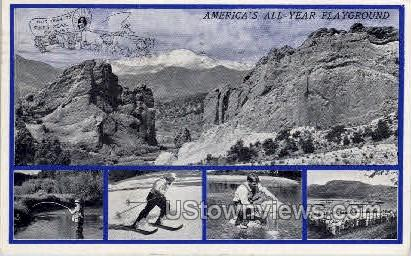 America's All Year Playground - Misc, Colorado CO Postcard