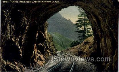 Tunnel Near Keddie, Feather River Canon - Misc, Colorado CO Postcard