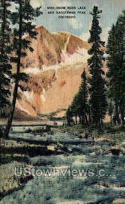 Snow Mass Lake and Hangerman Peak - Misc, Colorado CO Postcard