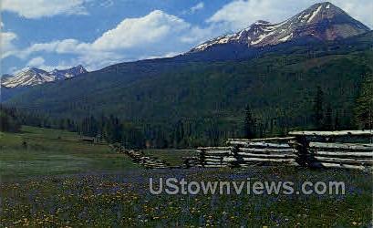 Engineer Mountain - Misc, Colorado CO Postcard