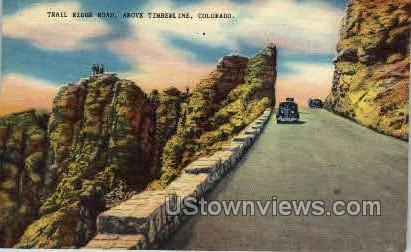 Trail Ridge Road, Above Timberline - Misc, Colorado CO Postcard