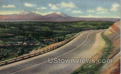 Top of Raton Pass, New Mexico-Colorado State Line - Misc Postcard