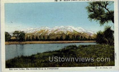 Mt. Blanca, San Luis Valley - Misc, Colorado CO Postcard
