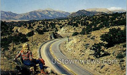 Continental Divide on the U.S. 24 - Misc, Colorado CO Postcard