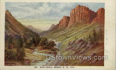 Seven Castles, Midland - Misc, Colorado CO Postcard