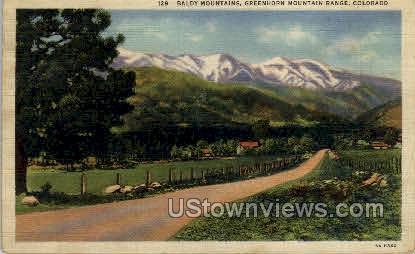 Baldy Mountains, Greenhorn Mountain Range - Misc, Colorado CO Postcard