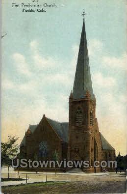 First Presbytarian Church - Pueblo, Colorado CO Postcard