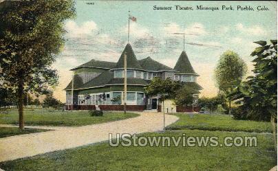 Summer Theater, Minnequa Park - Pueblo, Colorado CO Postcard