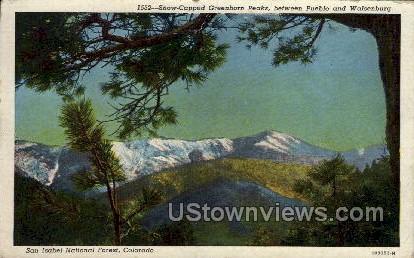 Snow Capped Greenhorn Peaks - Pueblo, Colorado CO Postcard