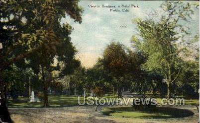 View in Roselawn, a Burial Park - Pueblo, Colorado CO Postcard