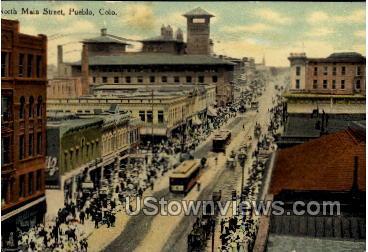 North Main Street - Pueblo, Colorado CO Postcard